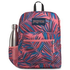 JanSport Cross Town Backpack Dotted Palm Pink NWT